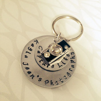 Capture Life-Photography Hand Stamped Keychain/Necklace