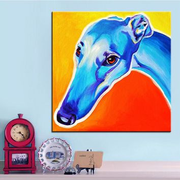 Large size Print Oil Painting greyhound lizzie Wall painting Home Decorative Wall Art Picture For Living Room paintng No Frame