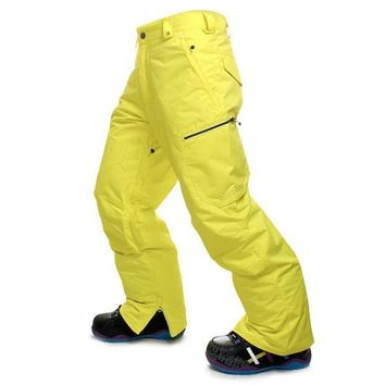 ESBONHS GSOU SNOW High Quality Men Ski Pants Snowboarding Colorful Warm Waterproof Windproof Breathable Skiing Pants