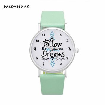Susenstone Brand 2017 Women Men Simple Classic Watch Ladies Clock Fashion Casual Quartz Watch Relogio Feminino saat erkekler Y30