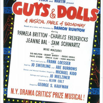 Guys and Dolls 14x22 Broadway Show Poster (1950)