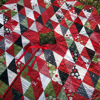 Quilted Tree Skirt Countdown to Christmas Triangles