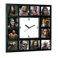 The Walking Dead Horrific Zombies Clock with 12 pictures