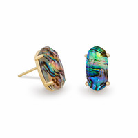 Betty Stud Earrings in Abalone Shell | Kendra Scott