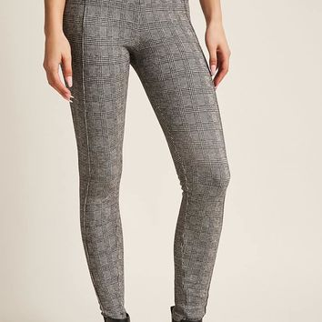 Pintucked Glen Plaid Leggings