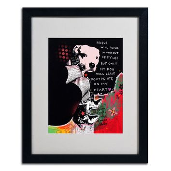 20'' x 16'' ''Girl's Best Friend'' Framed Canvas Wall Art