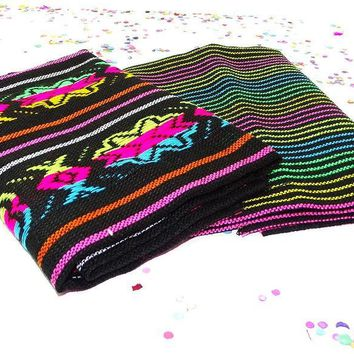 Mexican party decorations, Tribal fabric by the half yard, Fiesta party decor.