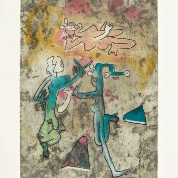 Centre Noeuds (Plate #8),1974 Limited Edition Etching & Aquatint, Roberto Matta