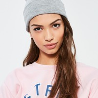 Missguided - Grey Classic Beanie