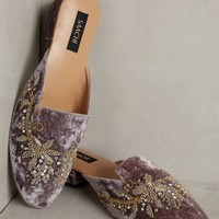 Bella Beaded Velvet Flats