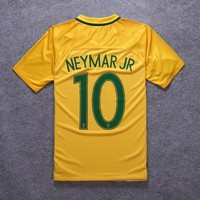 2017 Brazil Soccer Jersey 2016/17 Home Yellow Neymar Football Shirt Jerseys Brazil Camisetas de Futbol