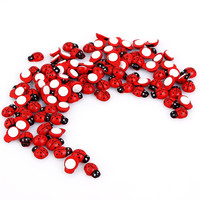 Hot sale Lot 100 pcs  Kids toys Wooden ladybug stickers Sponge stickers Home decoration