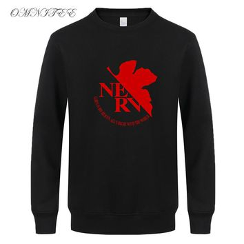Autumn Hoodies Pullover Women Men Fleece Long Sleeve Neon Genesis Sweatshirt Men Tops