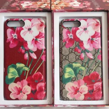GUCCI Bee flower iPhone Phone Cover Case For iphone 6 6s 6plus 6s-plus 7 7plus