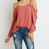 Chiffon Cold Shoulder Top