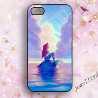 The Moon Ariel The Little Mermaid iphone 5s Case,iphone 5/5c case,Mermaid Samsung galaxy S3 S4 S5,Iphone 4/4s cover