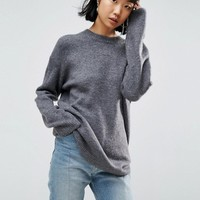 ASOS Sweater In Oversized With Crew Neck at asos.com