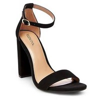 Women's Lulu Block Heel Sandals Merona™ - Black 8.5