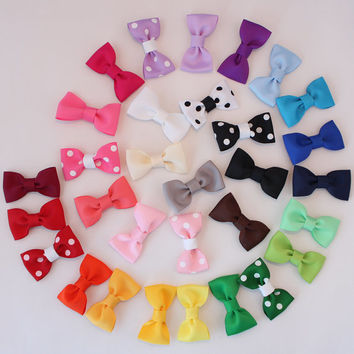 Select 20 Baby Hair Bows / small bow tie / newborn hair clip / baby shower gift / toddler hair accessories / small hair clip / babies bows