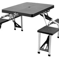 Portable Picnic Table Set, Black, Portable Picnic Tables & Chairs