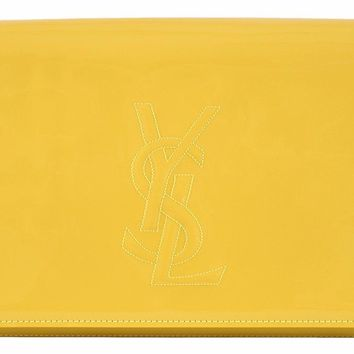 Saint Laurent YSL Women's Yellow Belle de Jour Clutch