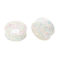 Acrylic Rainbow Splatter Saddle Plugs