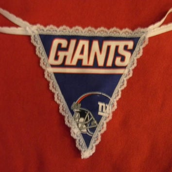 Womens NEW YORK GIANTS G-String Thong Lingerie Football Panty Underwear