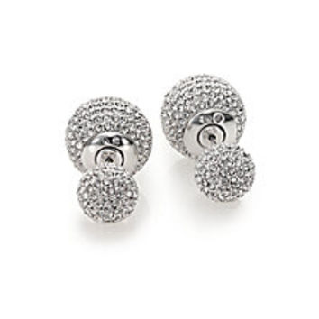 Adriana Orsini - Decadence Pavé Crystal Ball Two-Sided Earrings - Saks Fifth Avenue Mobile