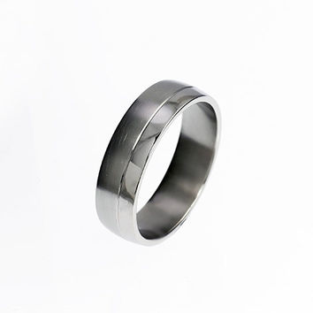Titanium wedding band, wide wedding ring, men's titanium ring, matte, modern wedding ring, contemporary, commitment, unique men's ring,