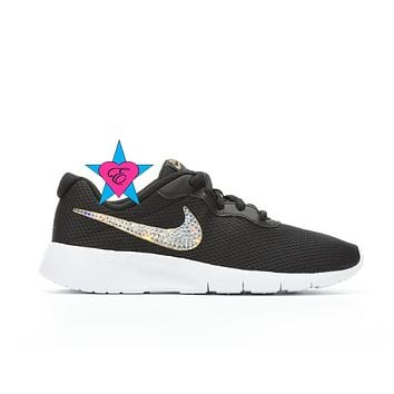 Glitter Kid Kicks | NIKE Black White Tanjun | 3.5-7