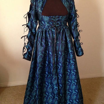 Peacock Empire Gothic Renaissance Cetlic Fantasy Dress! for melissa fletcher