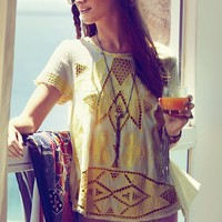 Free People FP New Romantics Cariocas Cutwork Tee