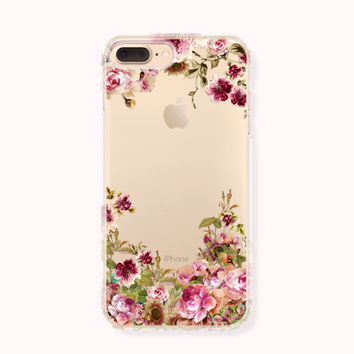 Floral iPhone 7 Case, iPhone 7 Plus Case, iPhone 6/6S Case, iPhone 6/6S Plus Case, iPhone 5/5S/SE Case, SAMSUNG Galaxy Case - Passion Flower