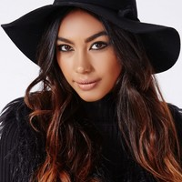 Missguided - Dory Bow Detail Floppy Hat Black
