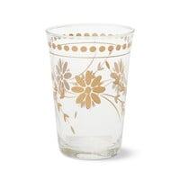 Vintage Etched Gold Tumblers, Set of 4