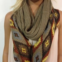 Fall Knit Infinity Scarf