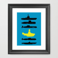 Know Your Submarines V2 Framed Art Print by Resistance