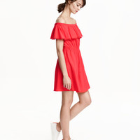 H&M Cotton Off-the-shoulder Dress $24.99