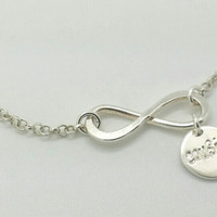 Infinity Cousin Bracelet Sterling Silver--Gift for Cousin