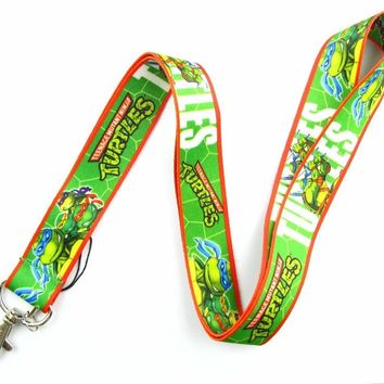 Lot 10Pcs Cartoon Teenage Mutant Ninja Turtles Mobile Cell Phone Lanyard Neck Straps Party Gifts A32