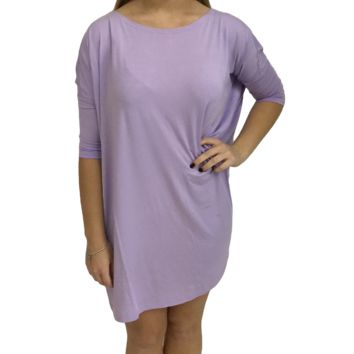 Lilac Piko Tunic Half Sleeve Top