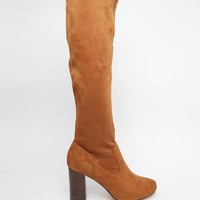 River Island | River Island Knee High Boot With Block Heel at ASOS