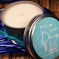 Follow Your Dreams Candle Featuring a Beautiful Dreamcatcher - Scentiments Inspirational Candle Gift