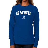 Grand Valley State Lakers Ladies Logo Arch Long Sleeve Slim Fit T-Shirt - Royal Blue