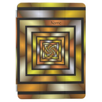 Luminous Tunnel Colorful Graphic Fractal Art Name iPad Pro Cover