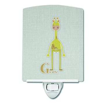 Alphabet G for Giraffe Ceramic Night Light BB5732CNL
