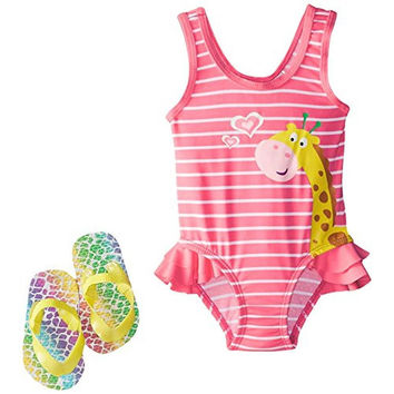 Wippette Girls Giraffe One-Piece Swimsuit