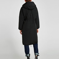 PUFFER COAT WITH HOOD