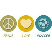 Peace Love Soccer Acrylic Cut Out from Zazzle.com