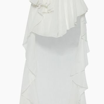 Flamenco Hi-Lo Skirt - White